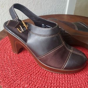 Tommy Hilfiger patchwork mules size 8